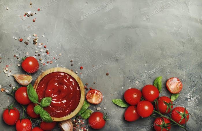 Hot tomato ketchup sauce