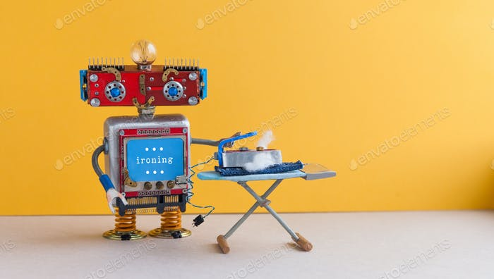 Robot housework helper with iron board