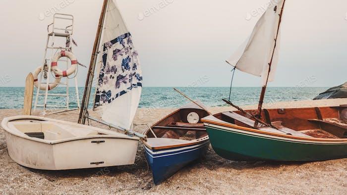 Bootsfahrt Erkunden Sie Nautische Navigieren Segeln Schiff Konzept