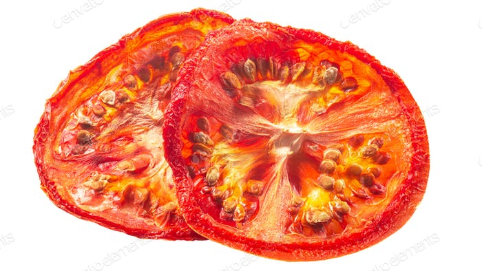 Tomato chips dried slices, paths
