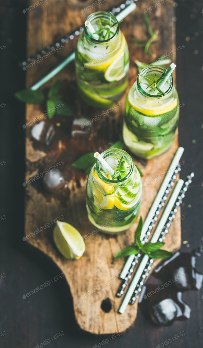 Citrus and herbs infused sassi water for detox, dieting