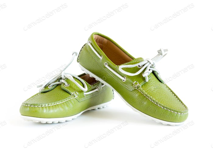 Modern Style Green Moccasin