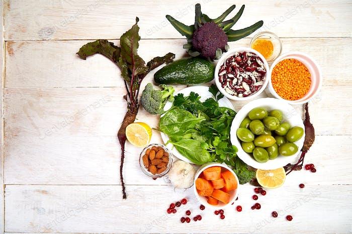Liver detox diet health food concept, healthy liver.