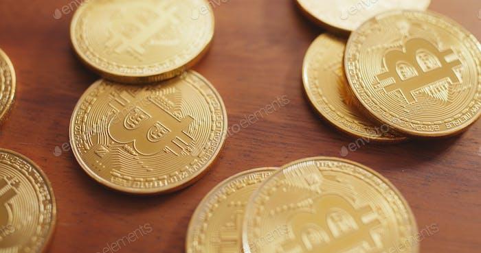 Stapel von Bitcoin