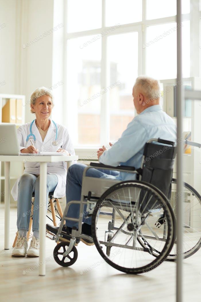 Handicapped Man at Check up