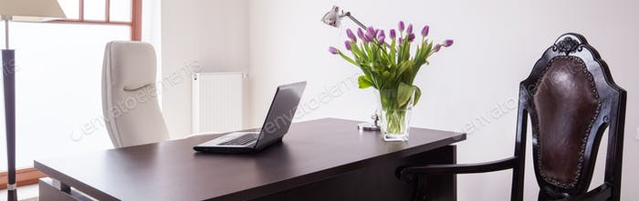 Elegant workplace at home