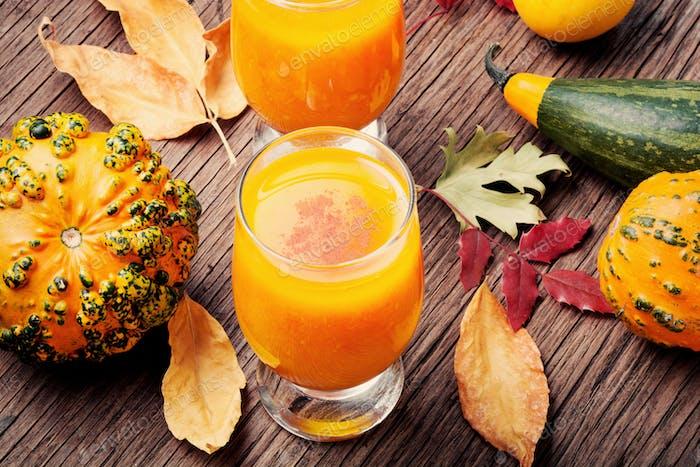 Healthy pumpkin smoothie