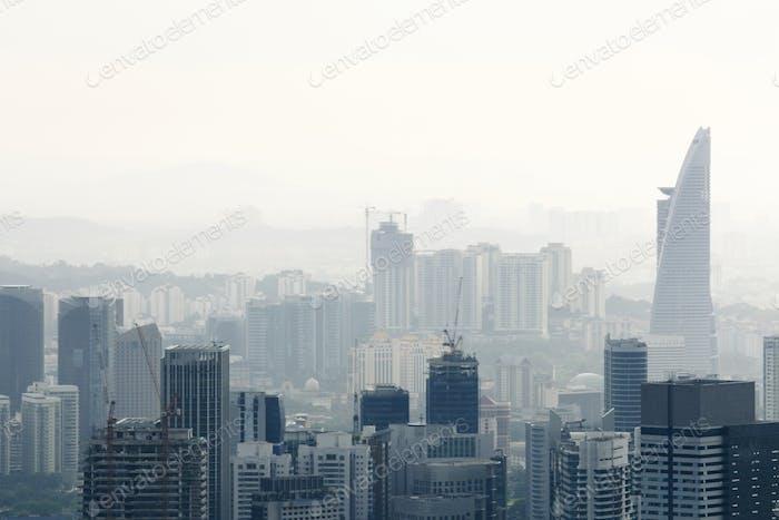 Stadt in der Luftverschmutzung
