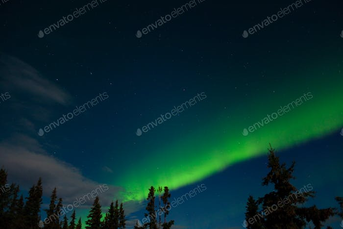 Aurora borealis (Northern lights) display
