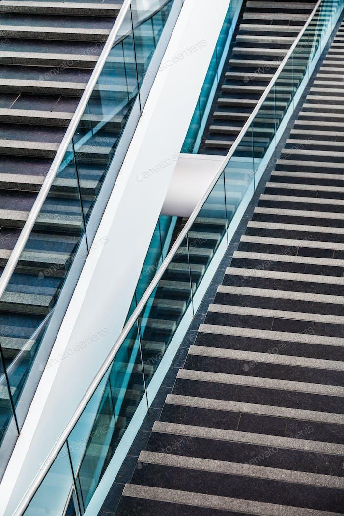 Detalle de escalera arquitectónica Moderno