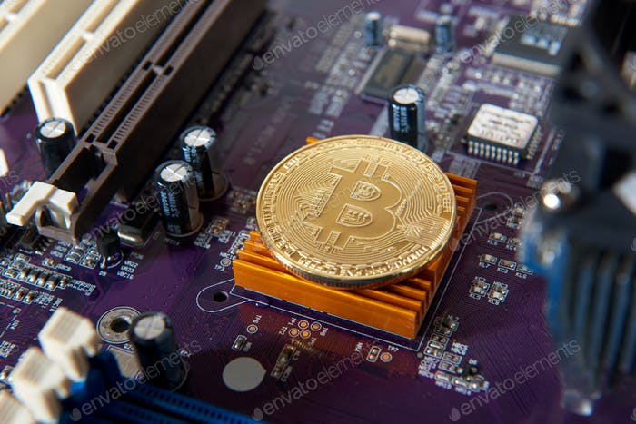 Thumbnail for Gold Bitcoin electronic computer processor board