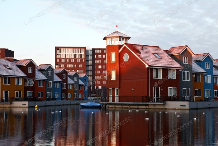colorful buildings in Netherlands