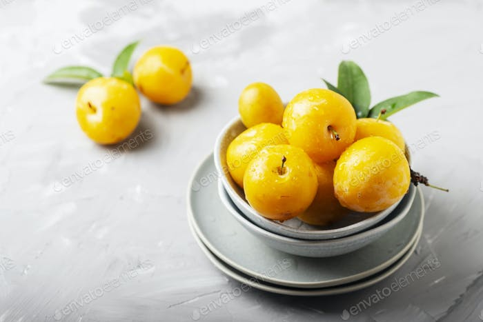 Yellow sweet plums