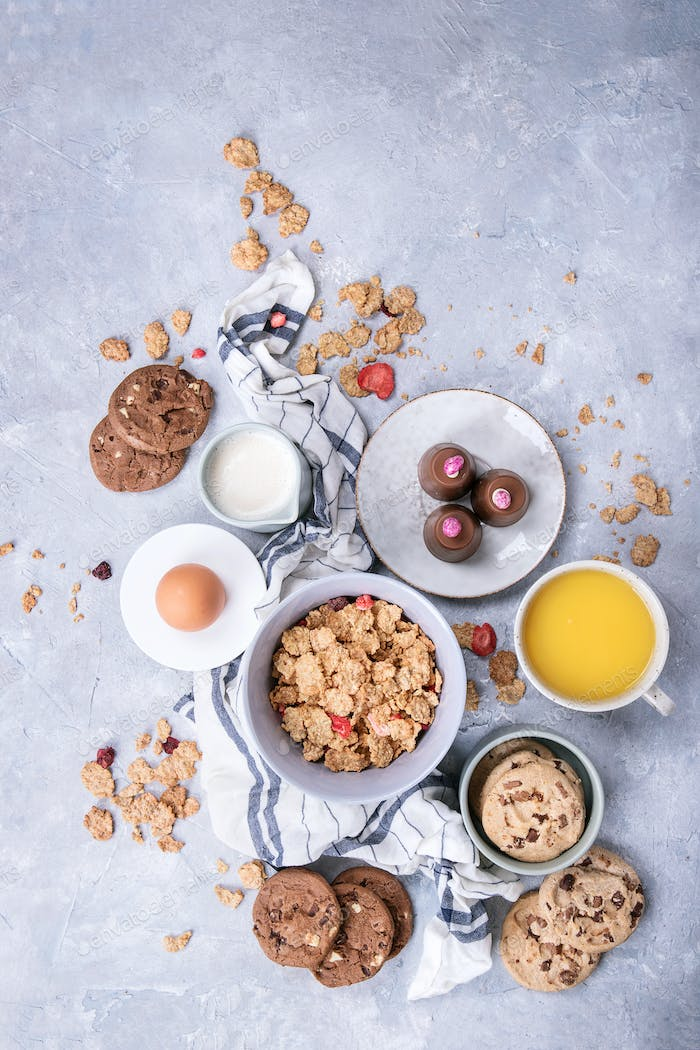 Home made cereal breakfast
