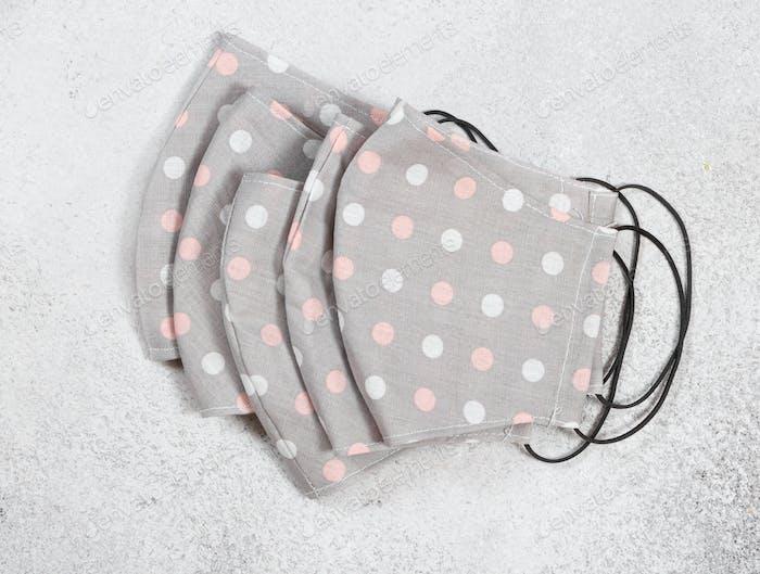 Handgefertigter Stoff wiederverwendbar medizinische Schutzmasken