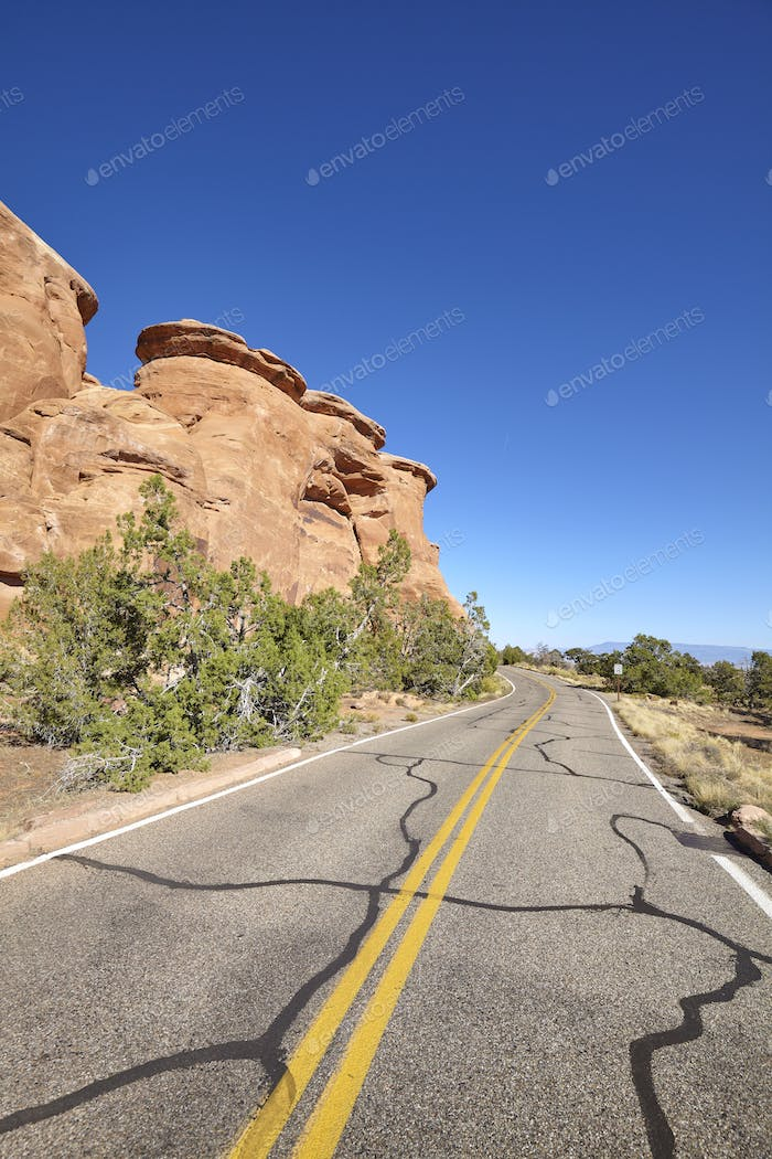 Scenic road in the Colorado National Monument, Colorado, USA