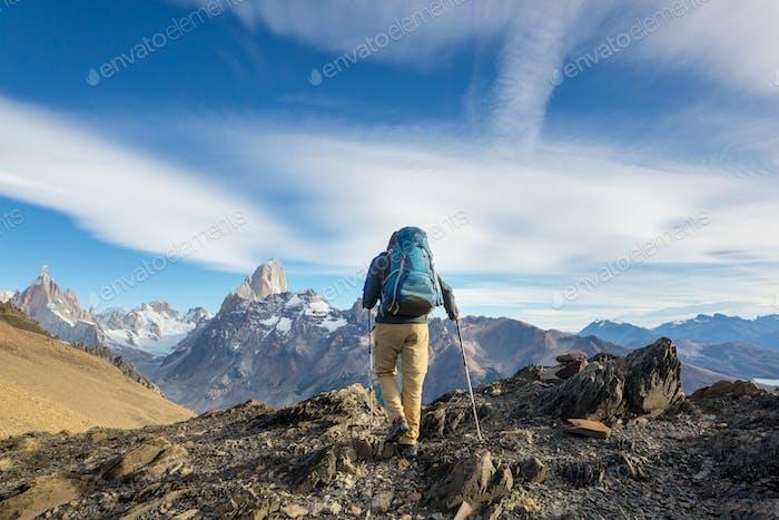 Caminata en la Patagonia
