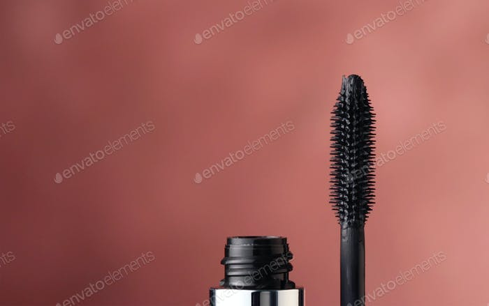 close up of black mascara