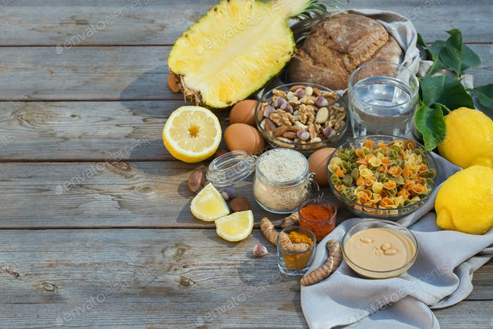 Low purine ingredients for dieting to stop gout