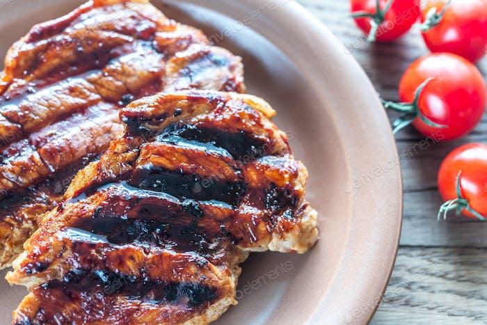 Gegrilltes Schweinefleisch Steaks