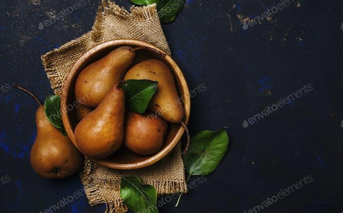 Ripe brown pears