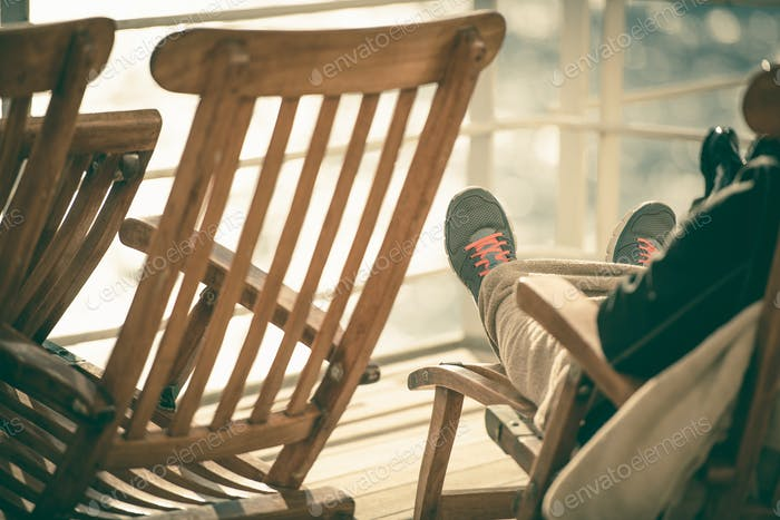 Cruise Deckchair Relaxing