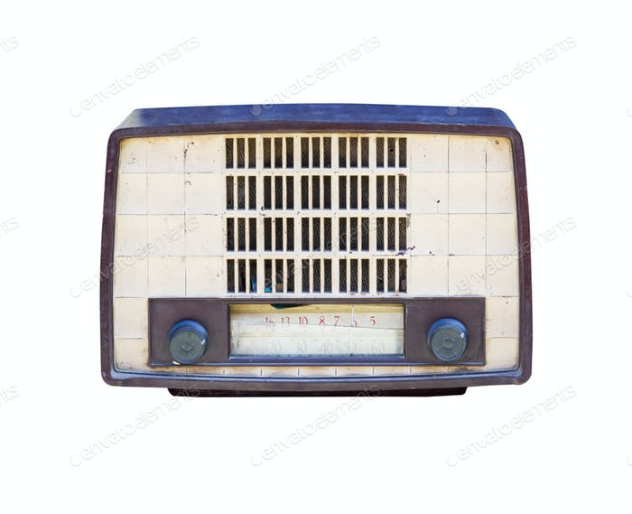 Old radio isolated 02