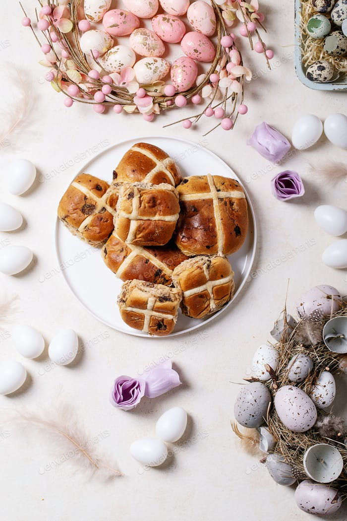 Traditional Easter cross buns