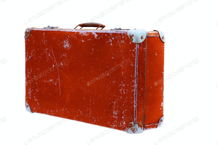 Thumbnail for Old suitcase on a white background