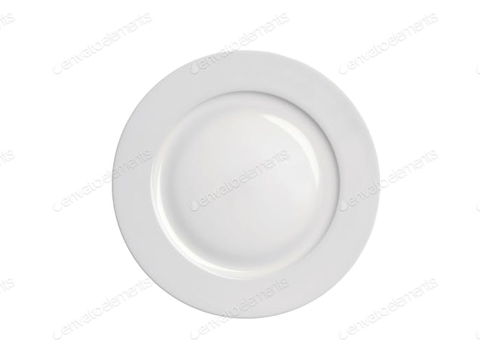 shiny plate isolated on white
