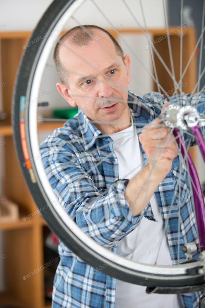 wheel of the bike