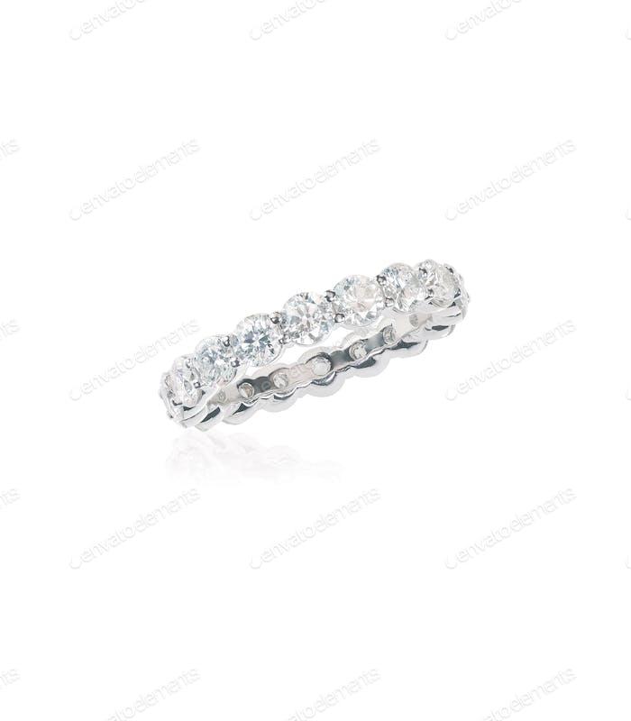 diamond gold wedding engagement band ring