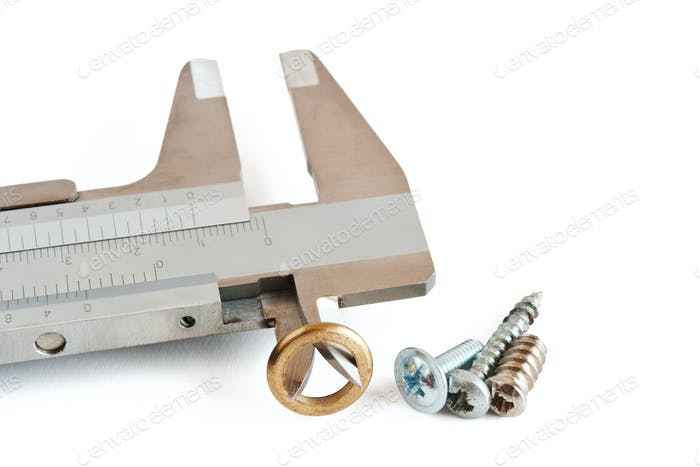 caliper with screw