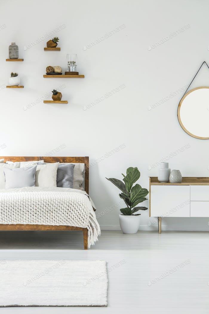 Scandi bedroom interior