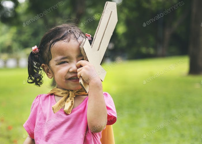 Girl Child Kid Young Elementary Adorable Cute Concept