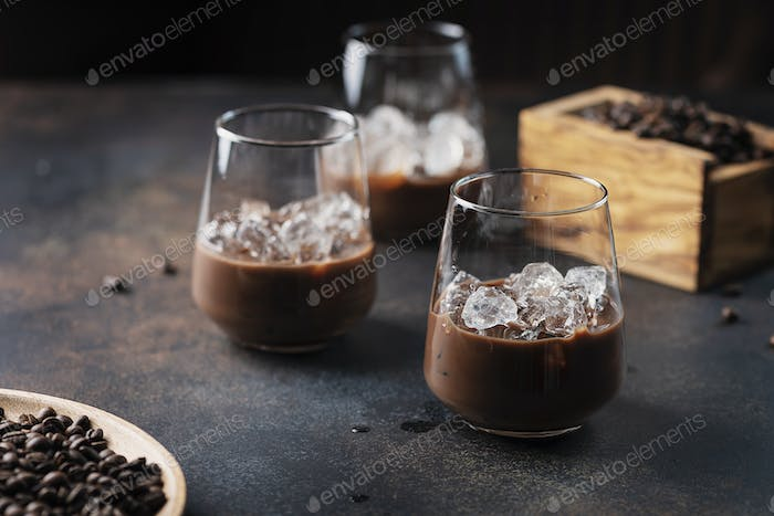 creamy ligueur with coffee