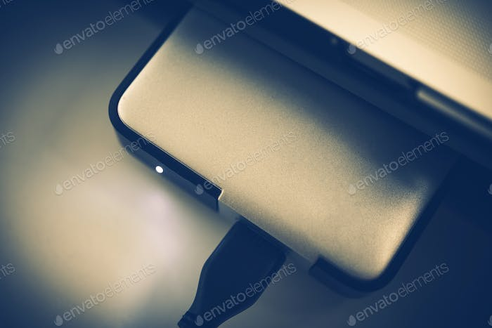 Portable Hard Drive Closeup