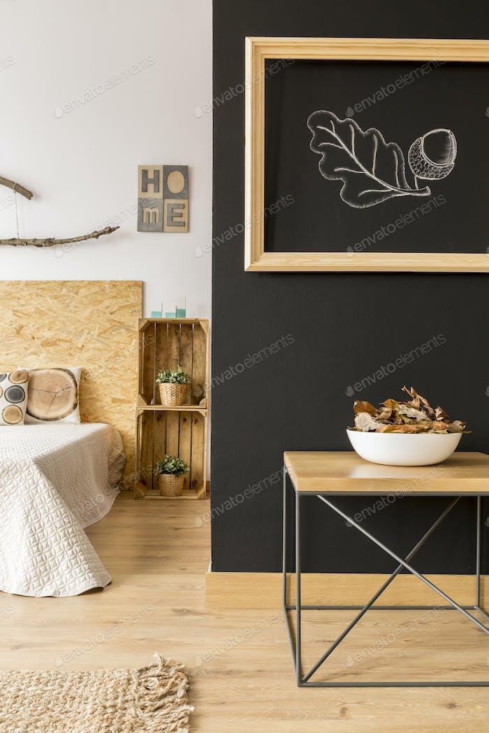 Gemütliches Herbstschlafzimmer