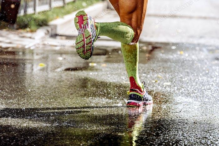 Beine Läufer Athlet
