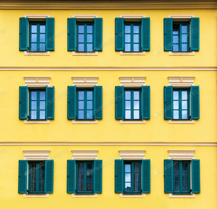 Building facade closeup, Karlovy Vary