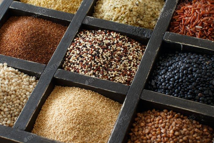 Gluten free grains in a box