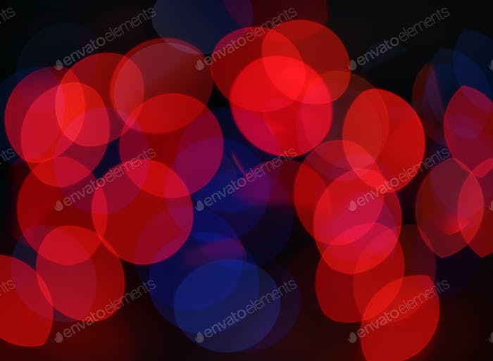 Red and blue holiday bokeh