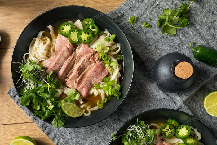 Homemade Beef Vietnamese Pho Soup