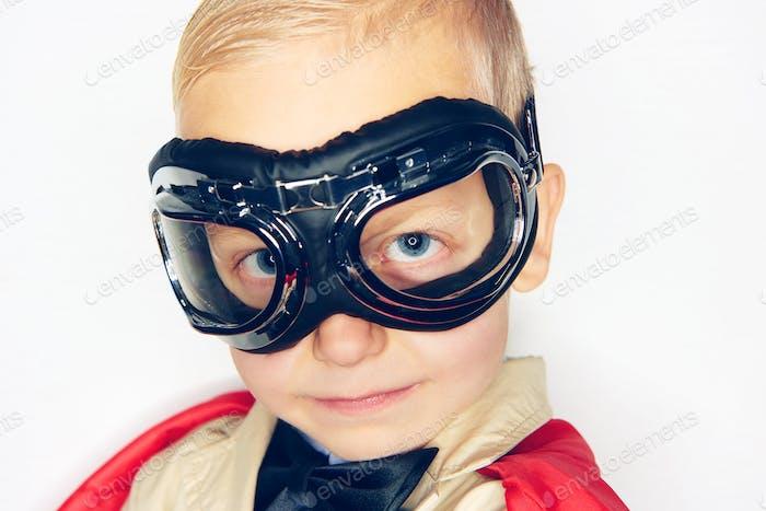 Shot of little boy in aviator glasses