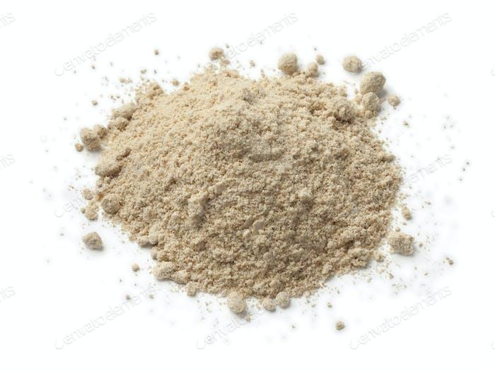 Heap of tiger nut flour