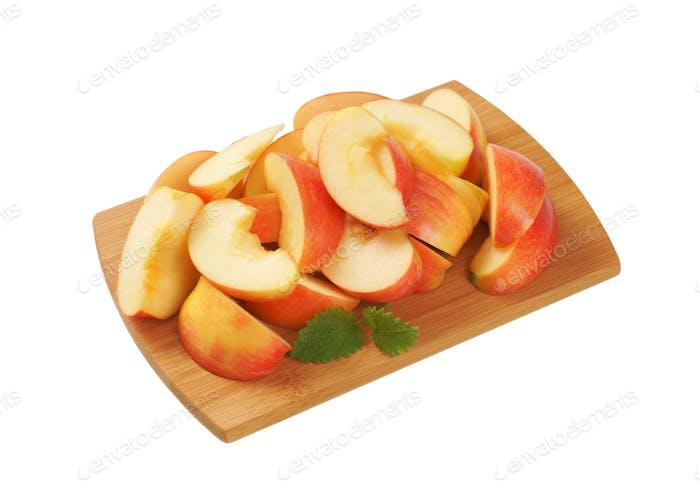 fresh sliced apple