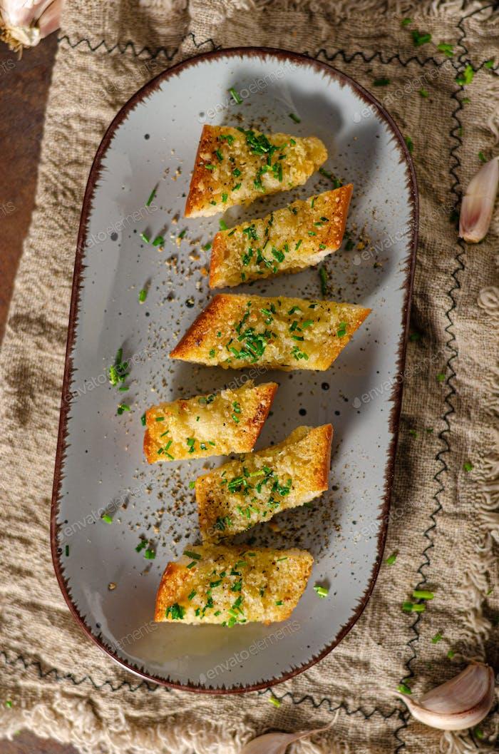 Butter garlic baguette