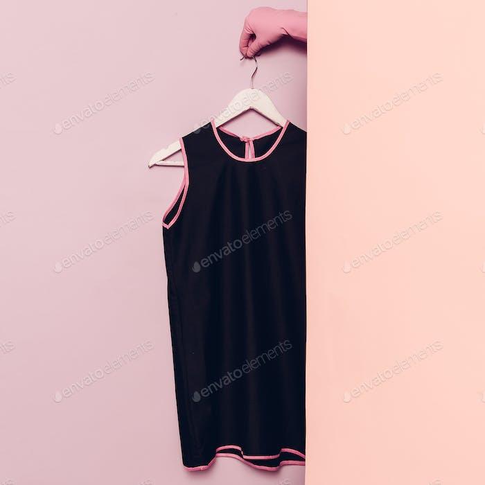 Black summer dress. Stylish clothes. wardrobe ideas trend
