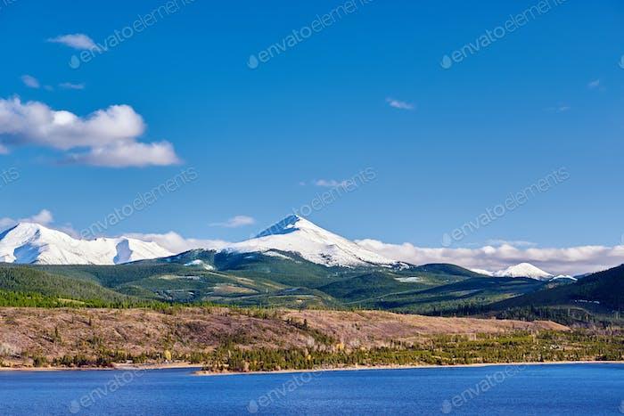 Dillon Reservoir and Swan Mountain. Rocky Mountains, Colorado