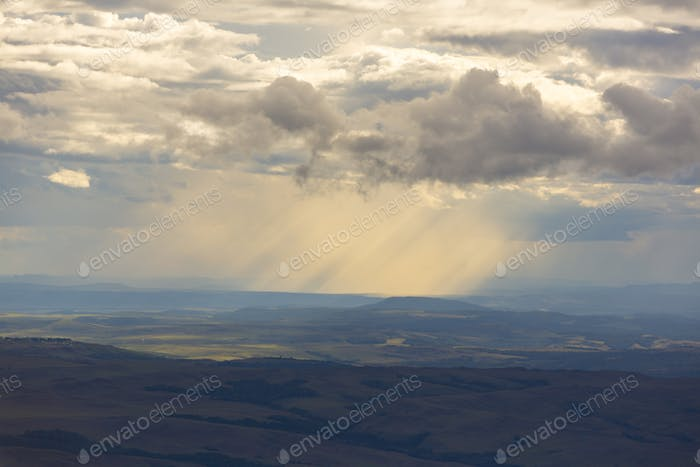 Morning on Gran Sabana in Mr Roraima, Canaima in Venezuela